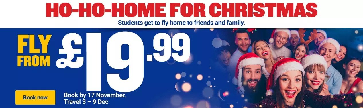 Book your Christmas flights today