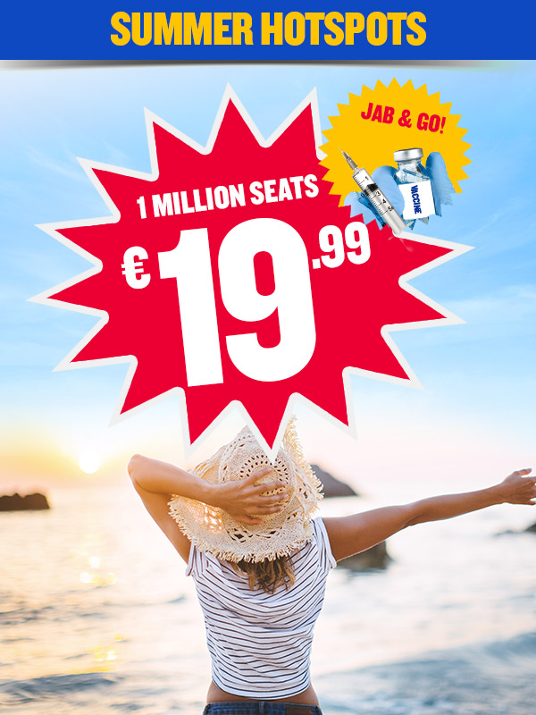Sizzling summer deals from only €19.99